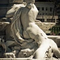 Statue in Joyce Kilmer Park
