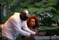 Marsha Ambrosius at J & R Music Festival getting tuned up!