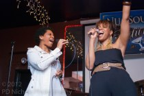 Angela Johnson joins Carmen on stage